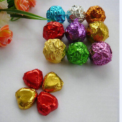 Colorful Silver Foil Candy Chocolate Pack Wrapper Paper Wedding Party Gift Favor