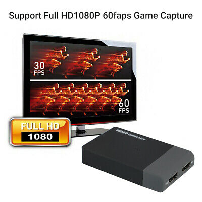 HDMI Video Capture Card USB 3.0 1080p HD Recorder For Game/Video Live Streaming