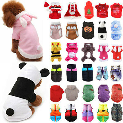 Pet Small Large Dog Cat Clothes Coat Jacket Vest Hoodie Sweater Jumper Dress