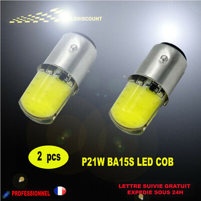 p21w led cob 6000k blanc pur protection silicone12smd 12v -