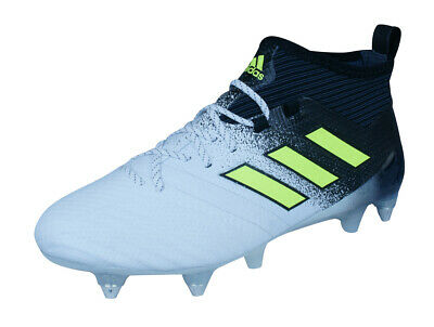 buy online 211d6 72c0f ADIDAS ACE 17.1 SG Mens Soccer Cleats Ankle Football Grass White Black