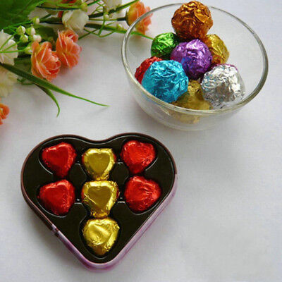 7x7cm Glossy Colorful Silver Foil Paper Pack Candy Chocolate Wedding Gift Party