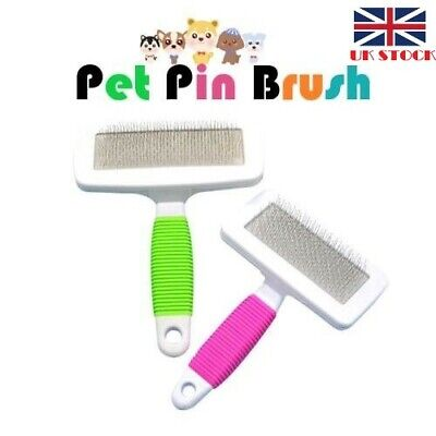 Pet Pin Brush Firm Slicker Grooming Comb for Long Haired Dog/Cat