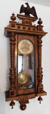 walnut cased vienna wall clock c1900s