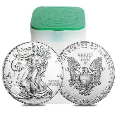 New 2019 Silver American U.s. Eagle Coins. Pre Order Sale. From Mint Tubes.
