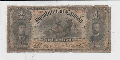 Canada paper money one old note low grade and up