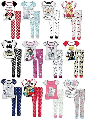 Womens Ladies Character Pyjamas Disney Marvel Pjs Cotton Rich Novelty Gift Size