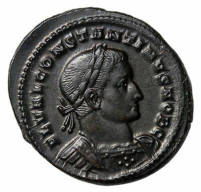 Constantine I The Great 307 AD As Ceasar Large Follis Trier  Roman Coin RIC.719b