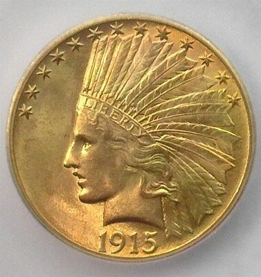 1915 Indian Head $10 Gold Eagle Icg Ms65 Rare This Nice!  Lists For $5,500!