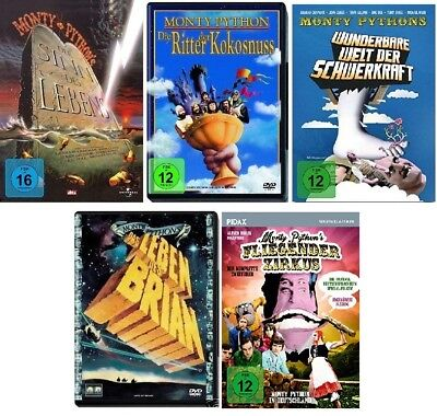 5 DVDs * MONTY PYTHON - KLASSIKER COLLECTION - 5 FILME IM SET # NEU OVP +""