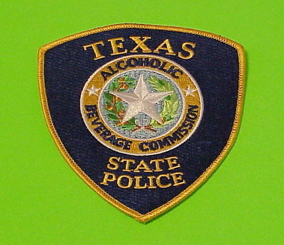 Texas  Alcoholic Beverage Commission  State  Tx  Police Patch   Free Shipping!!!
