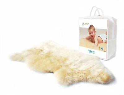 Bowron Babycare Unshorn Lambskin Rug For Baby Cot Bedding Sleeping New