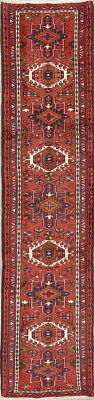 New Geometric Tribal Narrow Runner Gharajeh Heriz Persian Oriental Wool Rug 2x9