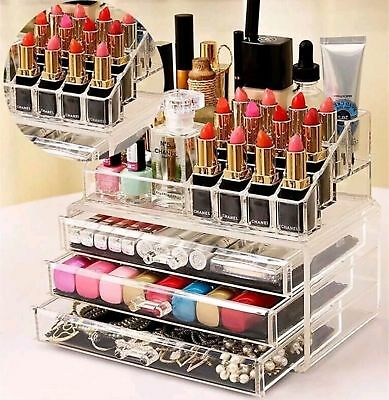 Beauty Case Donna Cosmetici Box Porta Trucchi Rossetti Make Up Mascara Organizer