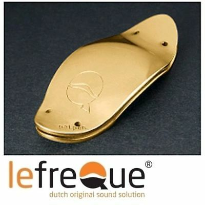 lefreQue Resonanzplättchen 41 mm - solid silver gold plated y