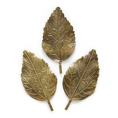 Bronze Tone Filigree Wraps Leaf DIY Findings Connnector Embellishments 66x33mm
