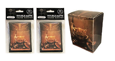 100 End of Things Cat MTG Double Matte Image Sleeves plus Deck Box Pokemon