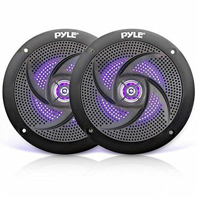 Waterproof Rated Marine Built-in LED Lights Speakers 4.0'' Pair
