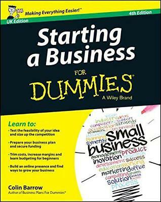 Starting a Business For Dummies(R) by Barrow, Colin, NEW Book, (Paperback) FREE