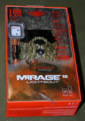 Wildgame Innovations Mirage 18 Lightsout 18MP Camera!!