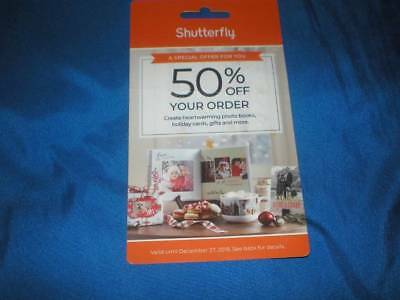 50% Off Shutterfly Coupon Valid until 12-27-2018        Brand New