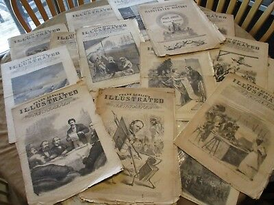 FRANK LESLIE'S ILLUSTRATED Lot of 20 Original Issues   New York