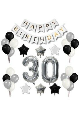 30th Birthday Party Balloon Decorations GIANT  Set