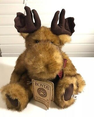 Boyds Bears McGraw D Mooseberg Plush Jointed Moose H B Collection Retired NEW