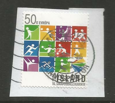ICELAND 2015 GAMES OF SMALL STATES OF EUROPE  ON A PIECE, SCOTT 1441, USED (o)