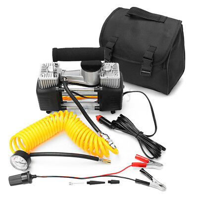Portable 12V 150PSI Auto Car Air Pump Compressor Tyre Inflator Double Cylinder