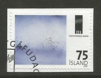 ICELAND 2007 75 KR WEST NORDIC COUNCIL ON A PIECE, SCOTT 1146, USED (o)