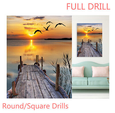 AU Full Drill Sunset Landscape 5D Diamond Painting Embroidery Cross Stitch EZ