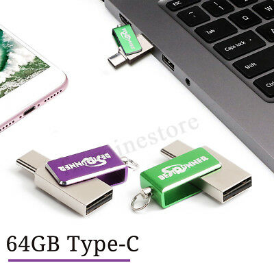 USB Type C Chiavetta Penna 64GB Flash PenDrive OTG Memoria Stick U Disk Phone PC