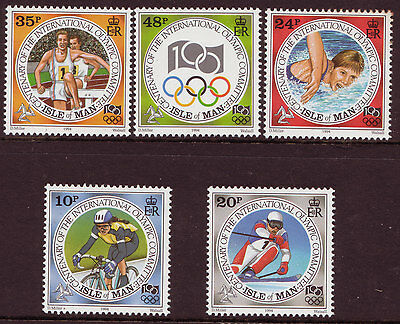 Isle Of Man 1994 Olympic Games Mounted Mint