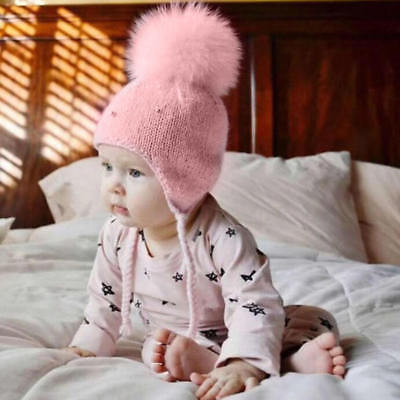 Winter Warm Baby Kids Girl Boy Toddler Wool Crochet Beanie Hat Cap For 0-3 Years