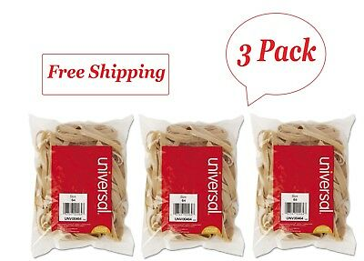 """Universal Rubber Bands, Size 64, 3-1/2"""" x 1/4, 80 Bands/1/4lb Pack 3"""