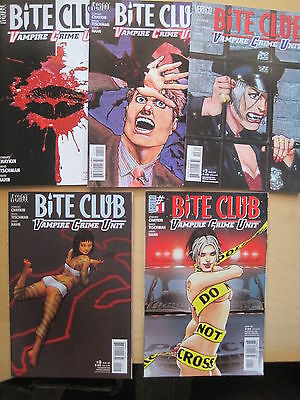 BITE CLUB, VAMPIRE :COMPLETE 5 ISSUE SERIES by CHAYKIN, TISCHMAN.DC VERTIGO.2006