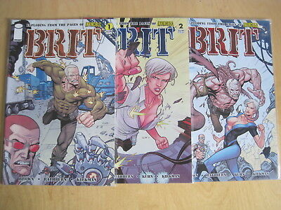 BRIT (from INVINCIBLES) :COMPLETE 3 ISSUE 2007 IMAGE SERIES by ROBERT KIRKMAN et