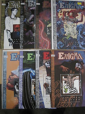 ENIGMA : COMPLETE 8 ISSUE SERIES by MILLIGAN & FEGREDO. DC VERTIGO. 1993