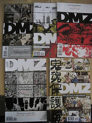 "Dmz 55,56,57,58,59 ""collective Punishment"", Complete 5 Issue Story. Vertigo.2010"