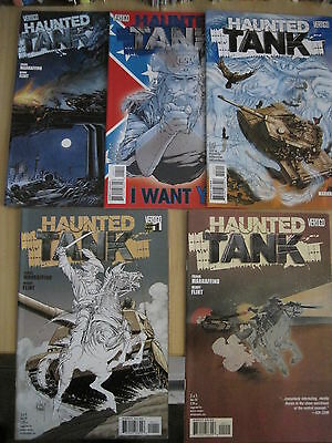 HAUNTED TANK : COMPLETE 5 ISSUE SERIES by MARRAFFINO & FLINT. DC VERTIGO. 2009