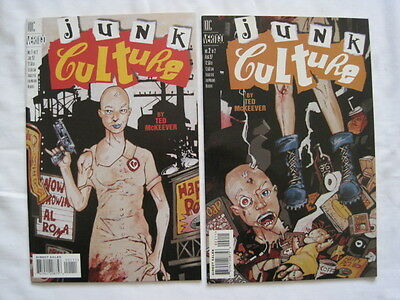 JUNK CULTURE : complete 2 PART Series by Ted McKEEVER. DC VERTIGO. 1997