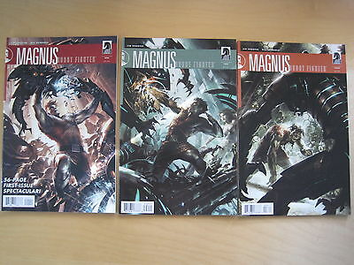 MAGNUS, ROBOT FIGHTER : #s 1,2,3  COMPLETE by SHOOTER & REINHOLD. Dark H. 2010
