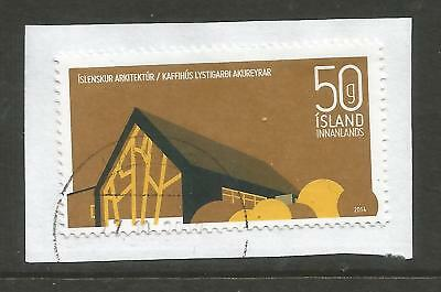 ICELAND 2014  50g ARCHITECTURE ON A PIECE, SCOTT 1401, USED (o)