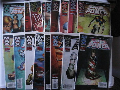 Supreme Power -Complete 18 Issue Series. Straczynski.explicit Content.marvel Max