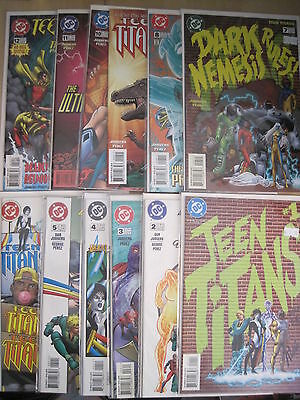 TEEN TITANS : COMPLETE 24 ISSUE DC 1996 series by JURGENS, PEREZ etc + AANUAL 1