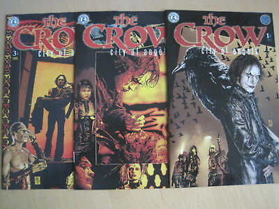 """The CROW : """"CITY of ANGELS"""" : COMPLETE 3 ISSUE 1996 KITCHEN SINK SERIES. 1,2"""