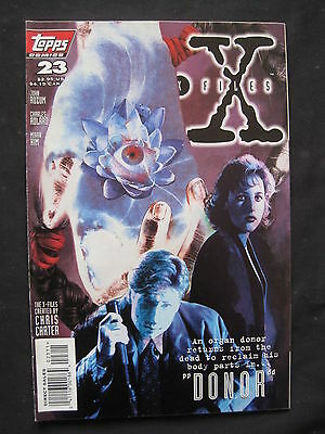 """THE X FILES # 23 : """"DONOR"""" complete story. MULDER. SCULLY. TOPPS.1996"""