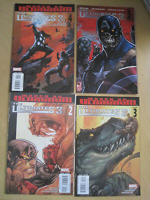 The Ultimates 3 : Complete 5 Issue 2008 Marvel Series + Both  #1 Gatefold Covers