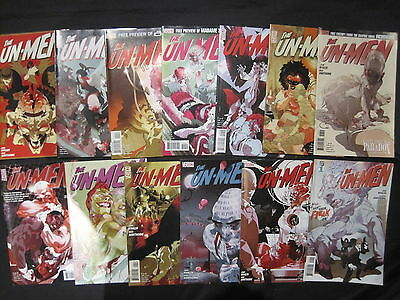 The UN-MEN : COMPLETE 13 ISSUE SERIES by WHALEN & HAWTHORNE. DC VERTIGO. 2007